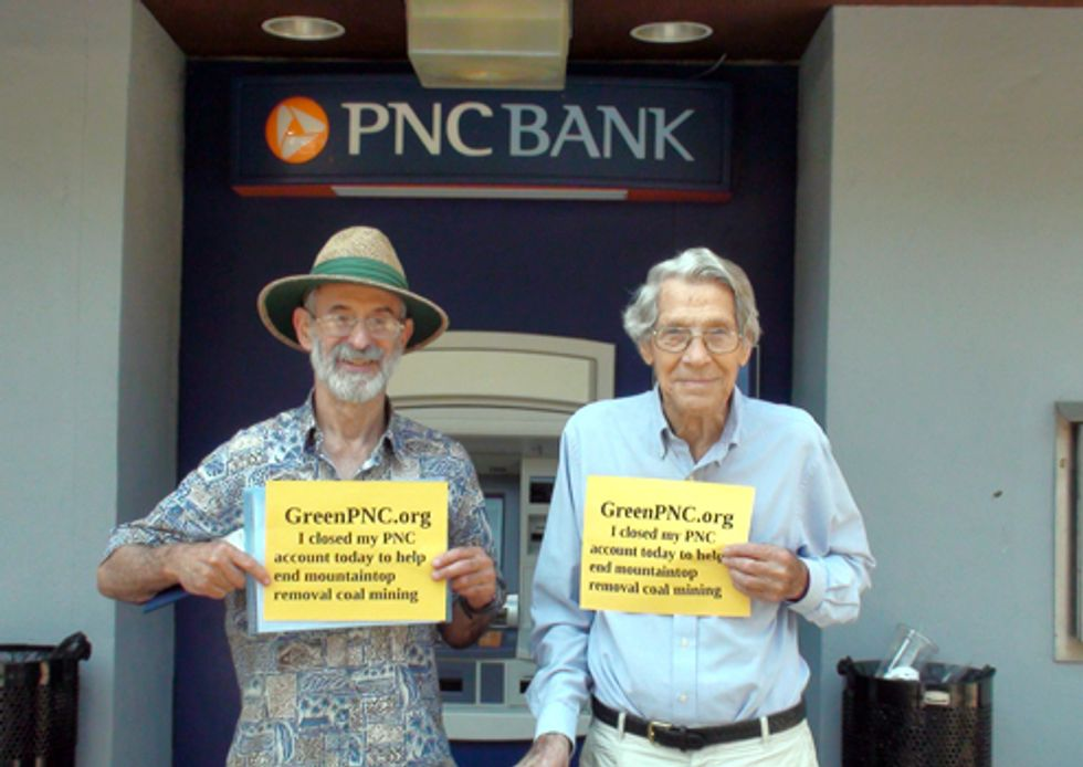 PNC Bank Customers Close Accounts to Protest Funding of Mountaintop Removal Mining