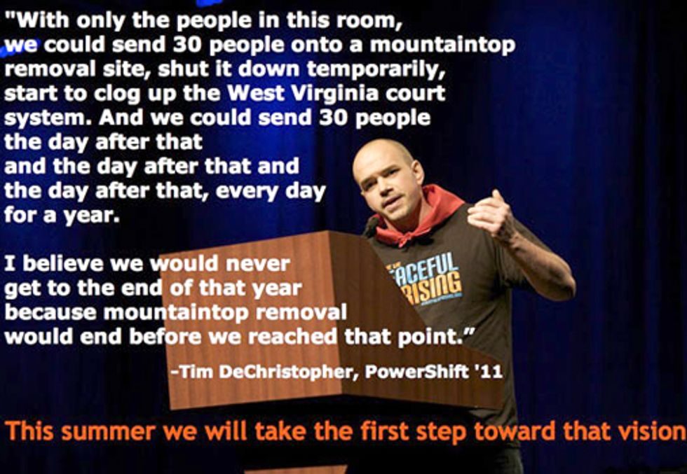 Help Stop Mountaintop Removal at Mountain Mobilization July 25 - Aug. 1