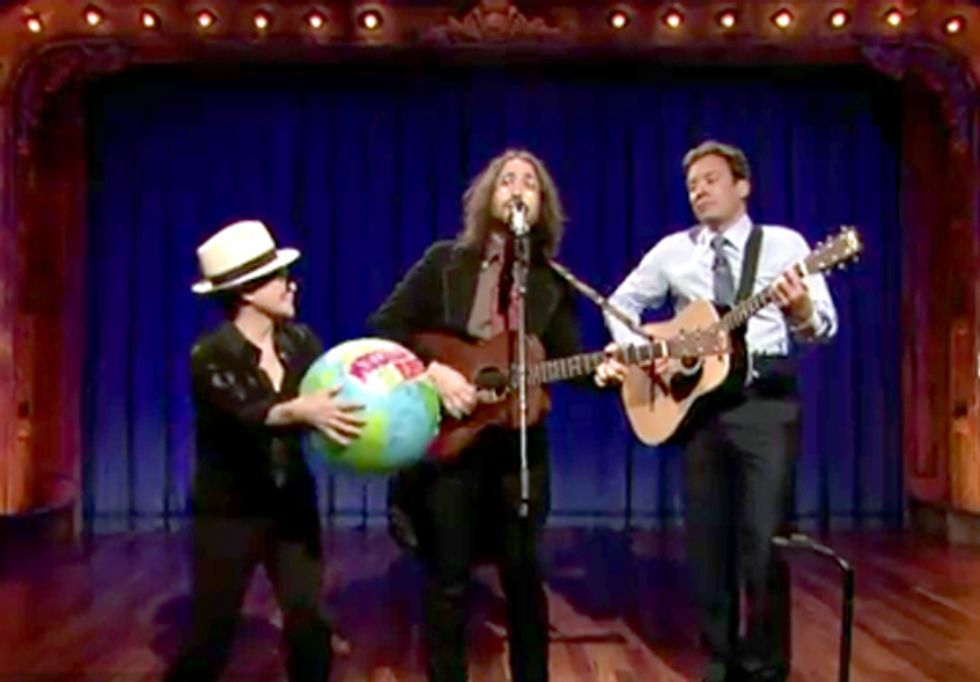 Yoko Ono and Sean Lennon Launch Artists Against Fracking on Late Night with Jimmy Fallon