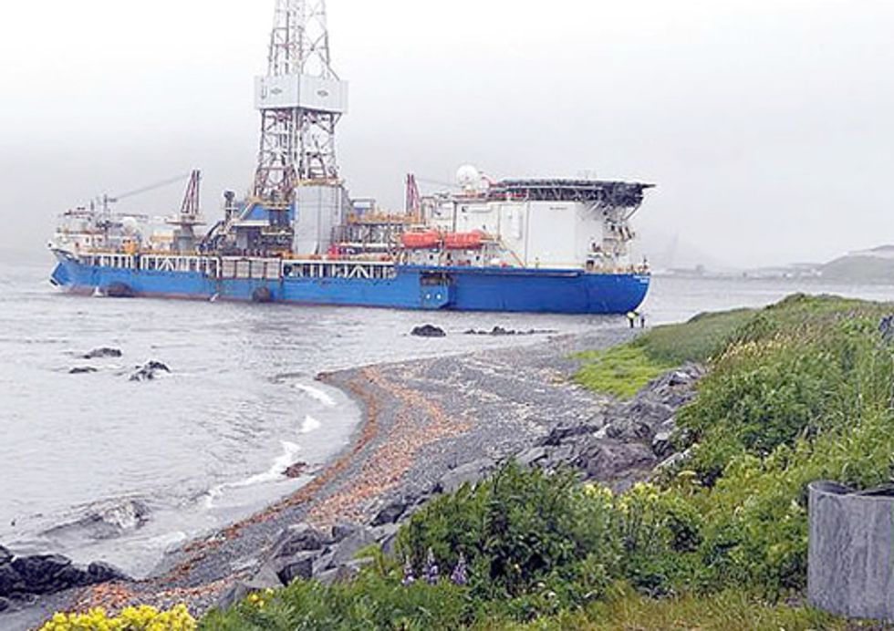 Shell Loses Control of Drill Rig Hundreds of Miles from Arctic Ocean