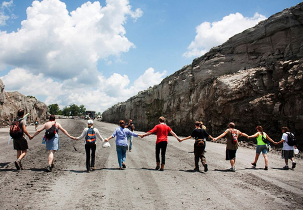 Protesters Shut Down Obama Backed Strip Mine in West Virginia