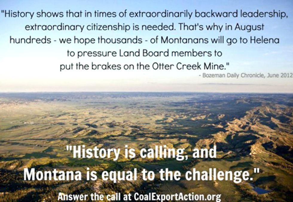 Montanans Stage Multi-Day Sit-in to Oppose Arch Coal Export Mine