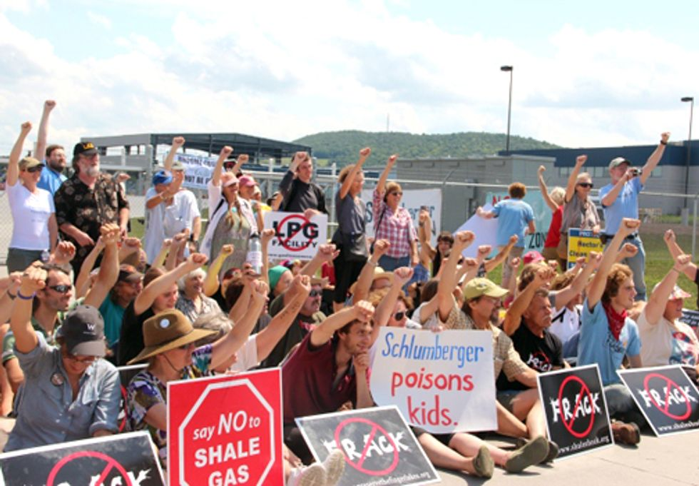 150 Protest at New York's Schlumberger Frack Facility