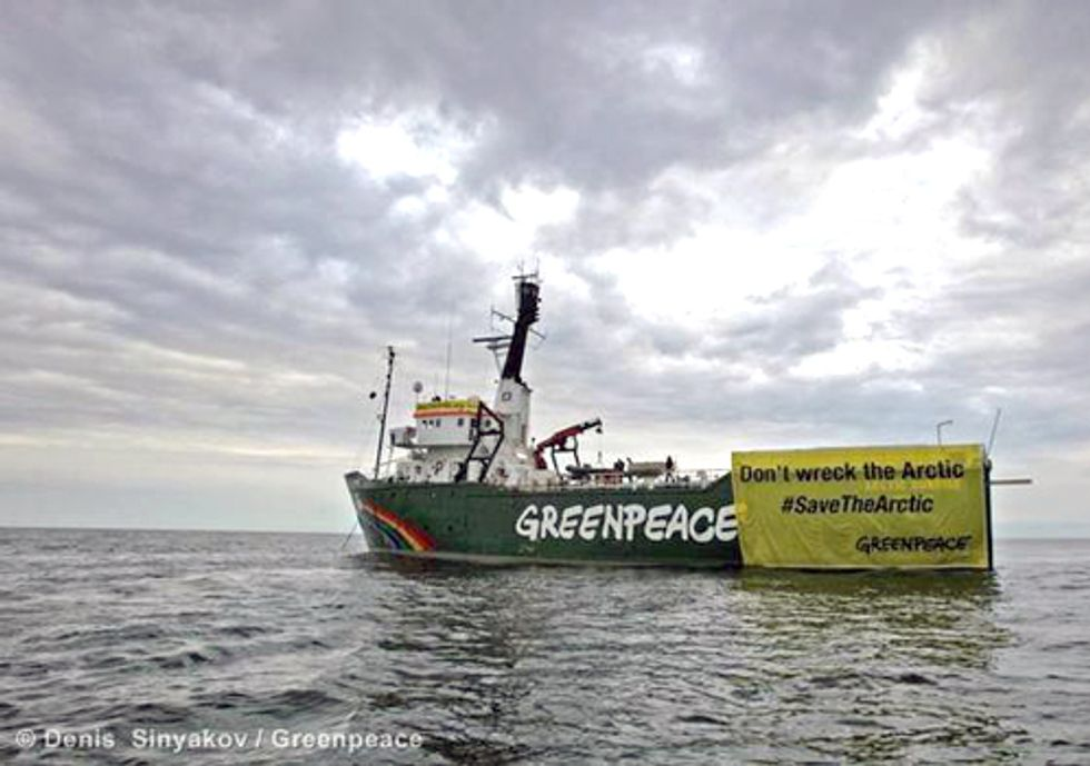 Greenpeace Continues Action to Stop Russian Oil Giant from Drilling in Arctic