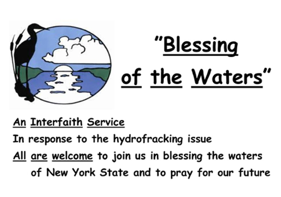 Clergy Against Fracking to Bless New York Waters