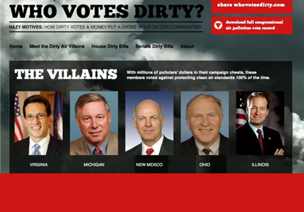 Does your Representative Vote Against Clean Air and Take Polluter Money?