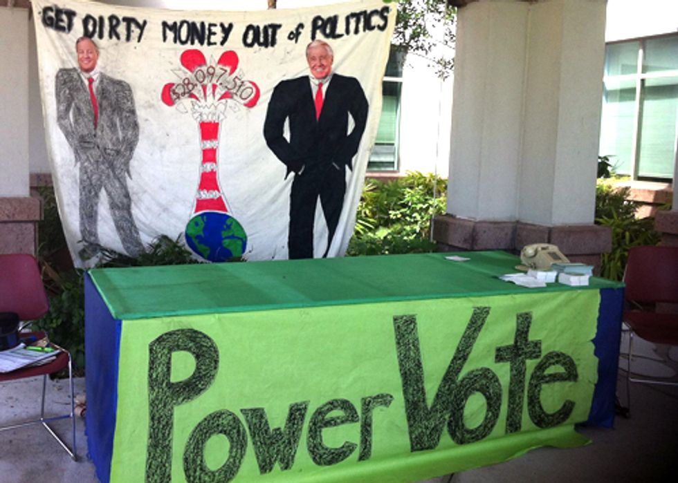 Youth Activists Demand Politicians Reject Polluter Dollars