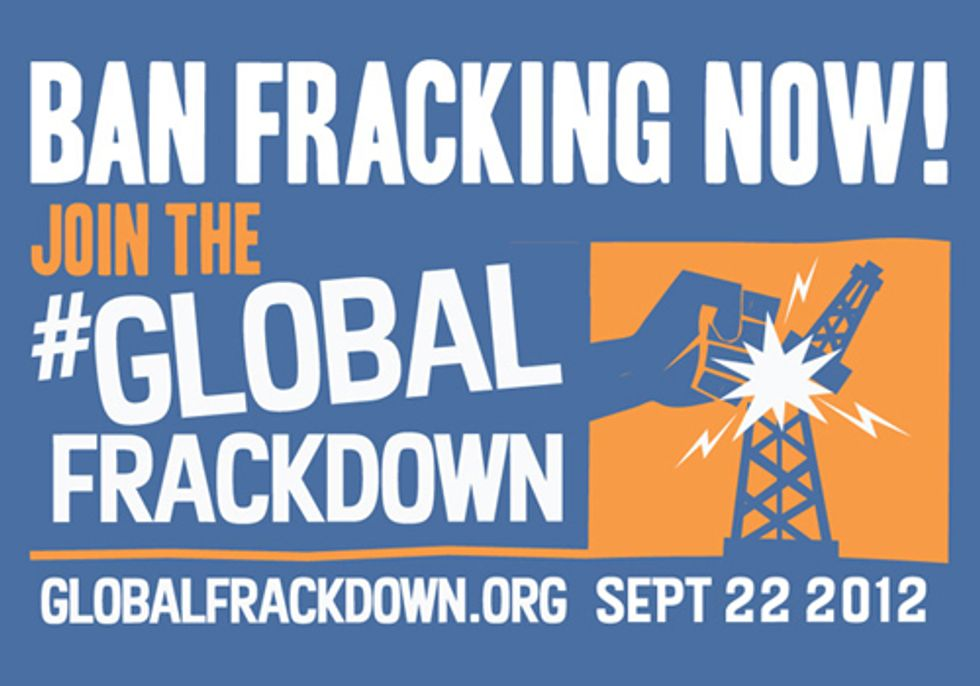 New Yorkers Join Global Frackdown to Support a Ban on Fracking