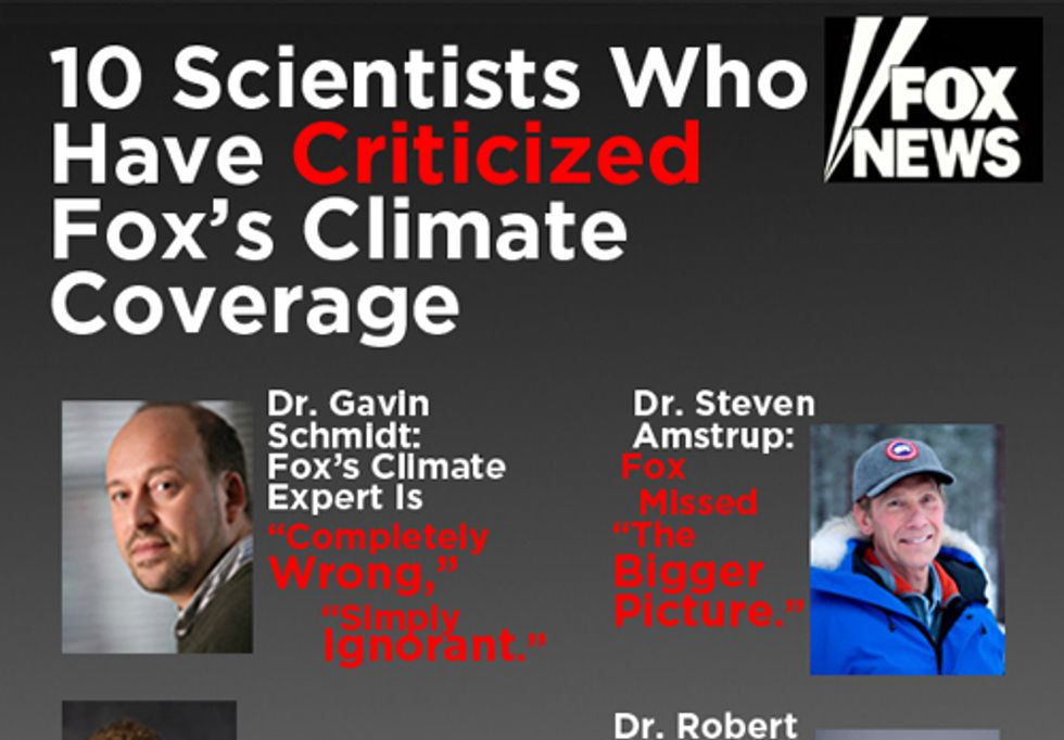 10 Scientists Criticize Fox's Climate Coverage