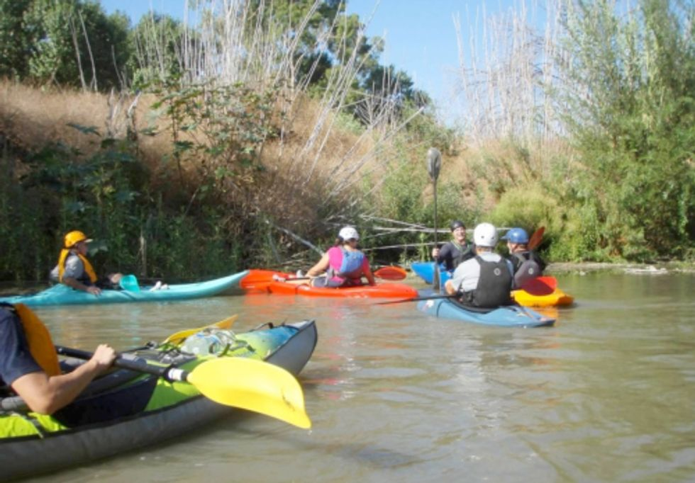 Kayaking the Santa Ana River