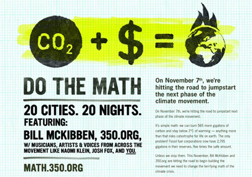 350.org Launches Do the Math Tour