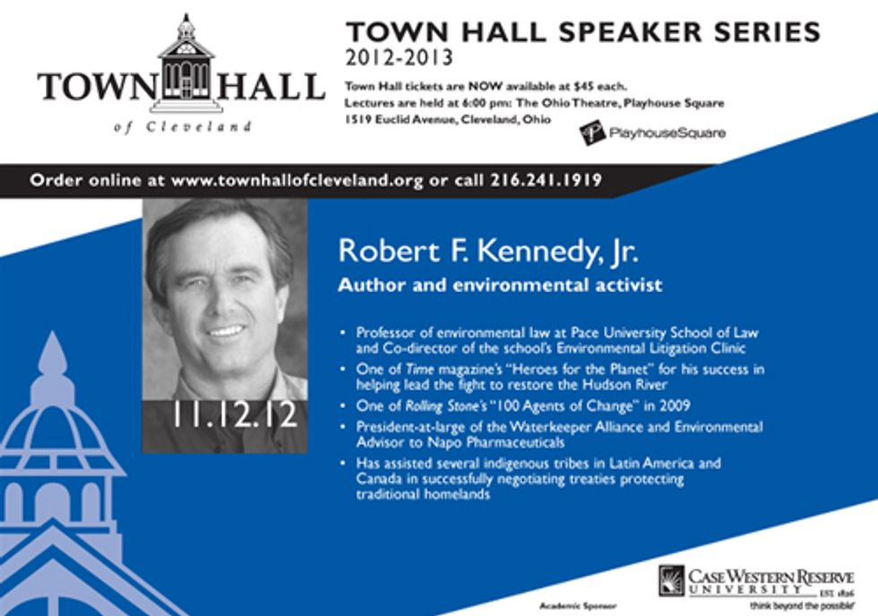 Author and Environmental Activist Robert F. Kennedy, Jr. Comes to Cleveland for Town Hall Series