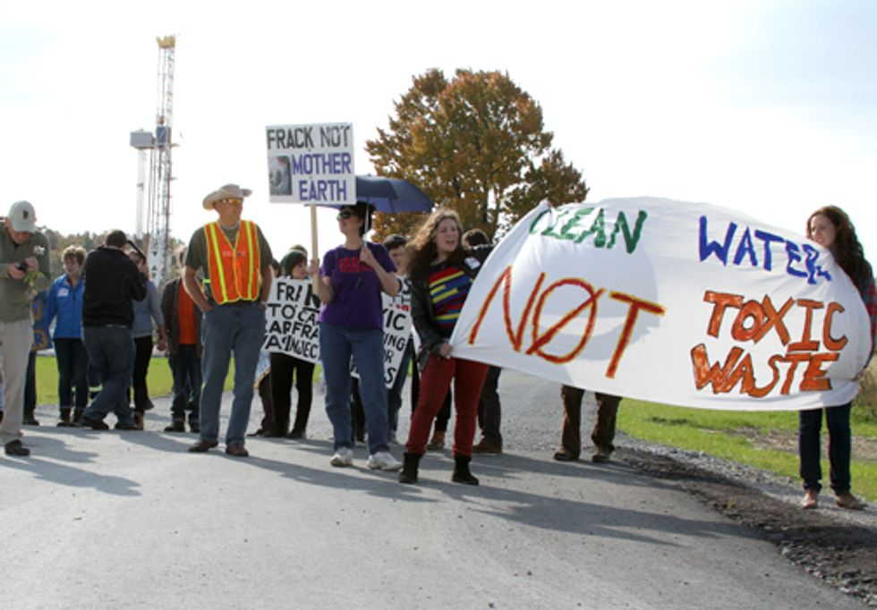 Protesters Blockade Fracking Well Site in Ohio