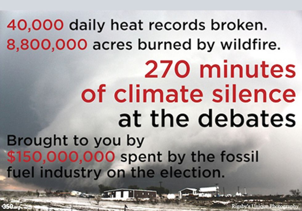Help Break the Silence on Climate Change in Tonight's Debate