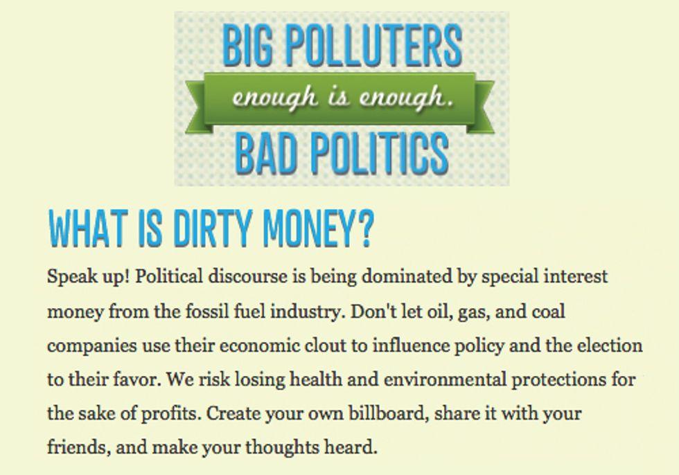 New Website Lets Voters Create Humorous Ads Exposing Money in Politics