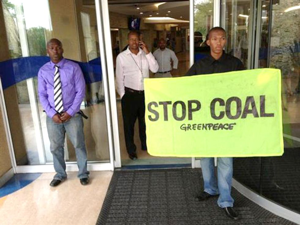 14 Activists Arrested Protesting Coal in South Africa