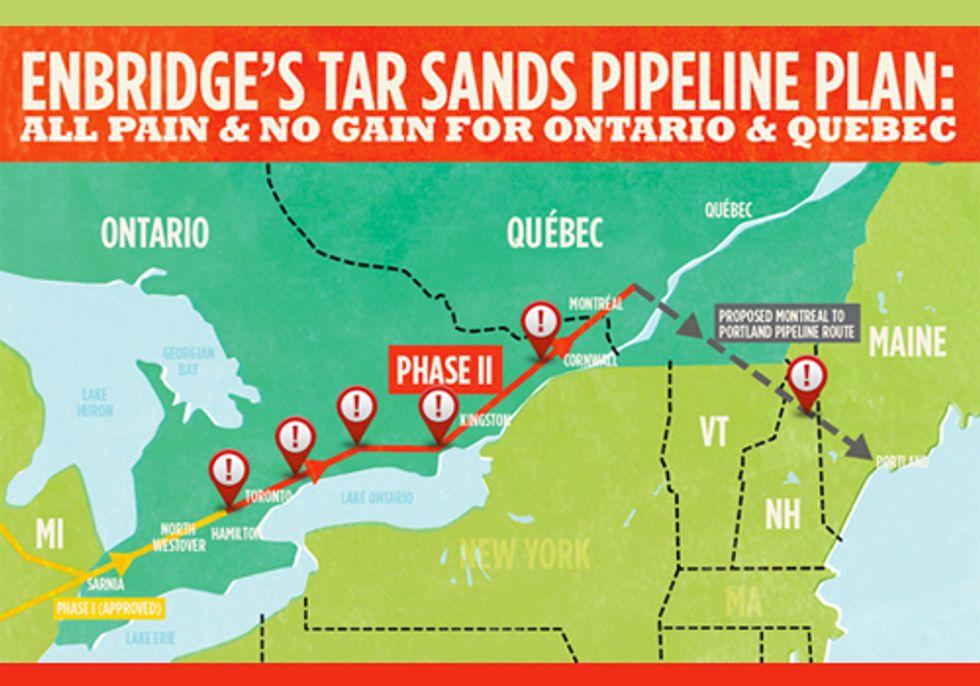 Enbridge's Hidden Agenda to Export Dangerous Tar Sands Through Ontario Exposed