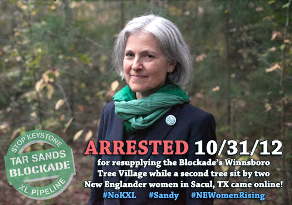 Green Party Presidential Candidate Arrested in TransCanada Keystone XL Tar Sands Blockade