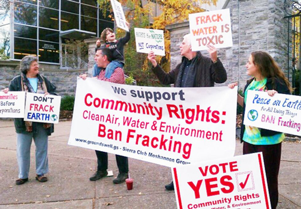 Vote Elevates Community Rights Over Corporate Privileges—Bans Fracking and Injection Wells