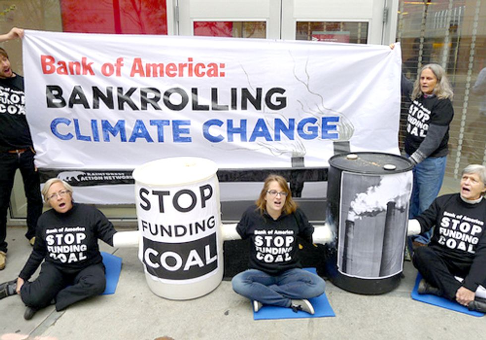 Nine Arrested at Four Bank of America Branches in Coal Protest