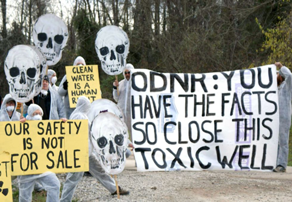 Ohioans Protest Fracking Wastewater Injection Well
