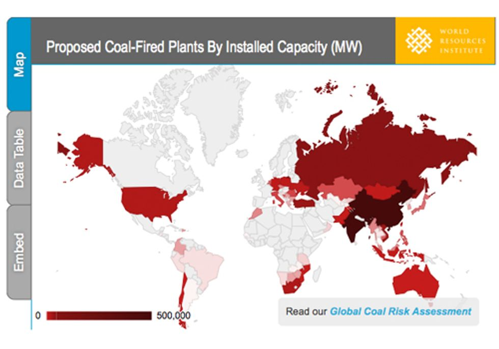 Global Climate at Risk as Nearly 1,200 New Coal Plants Proposed Around the World