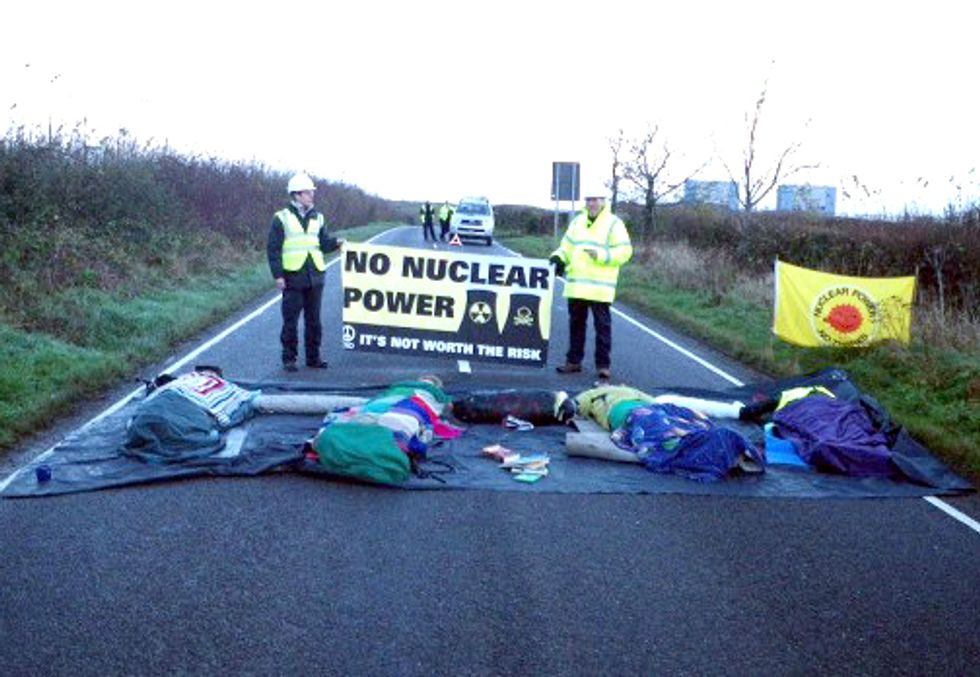 Four Arrested in Protest of Proposed Nuke Plant