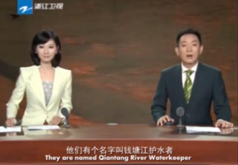 Qiantang River Waterkeeper Grabs Media Spotlight on Chinese TV