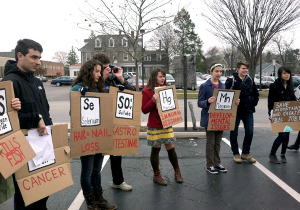 Protesters Speak Out Against Investments in Mountaintop Removal at 15 PNC Bank Branches