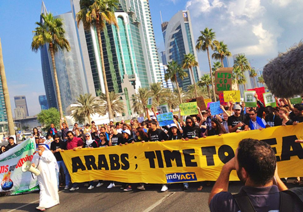 Hundreds March During UN Climate Conference Demanding Urgent Action on Climate Change