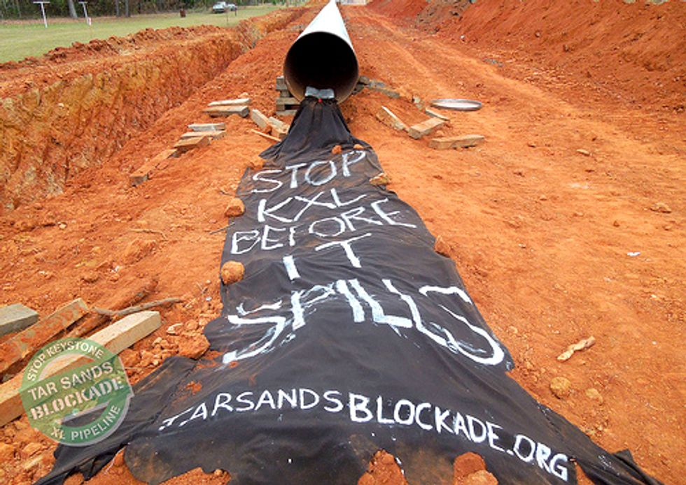 Three Arrested in Pipeline Barricade Action to Halt Keystone XL Construction
