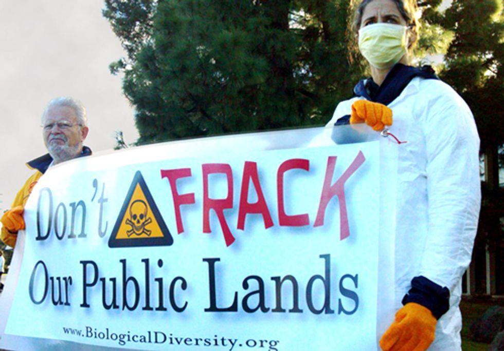 Fracking Protest Targets Federal Auction of California Public Land