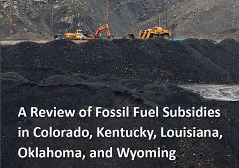 Fossil Fuel Subsidies Run Rampant at the State Level