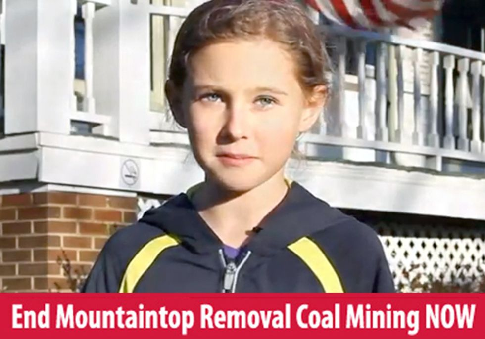 From the Mouth of Babes: President Obama, End Mountaintop Removal Now