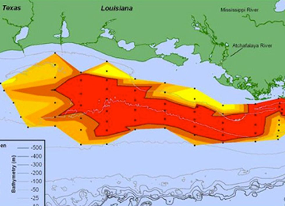 Connecticut-Sized Dead Zone Found in Gulf of Mexico
