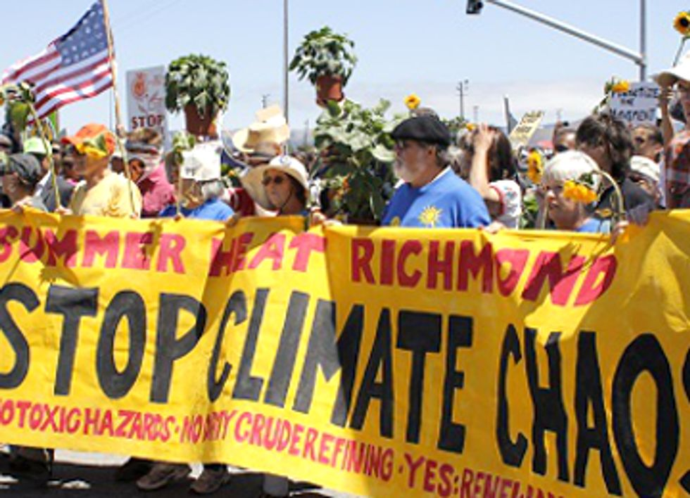 208 Arrested Protesting Climate Chaos and Big Oil at Chevron Refinery