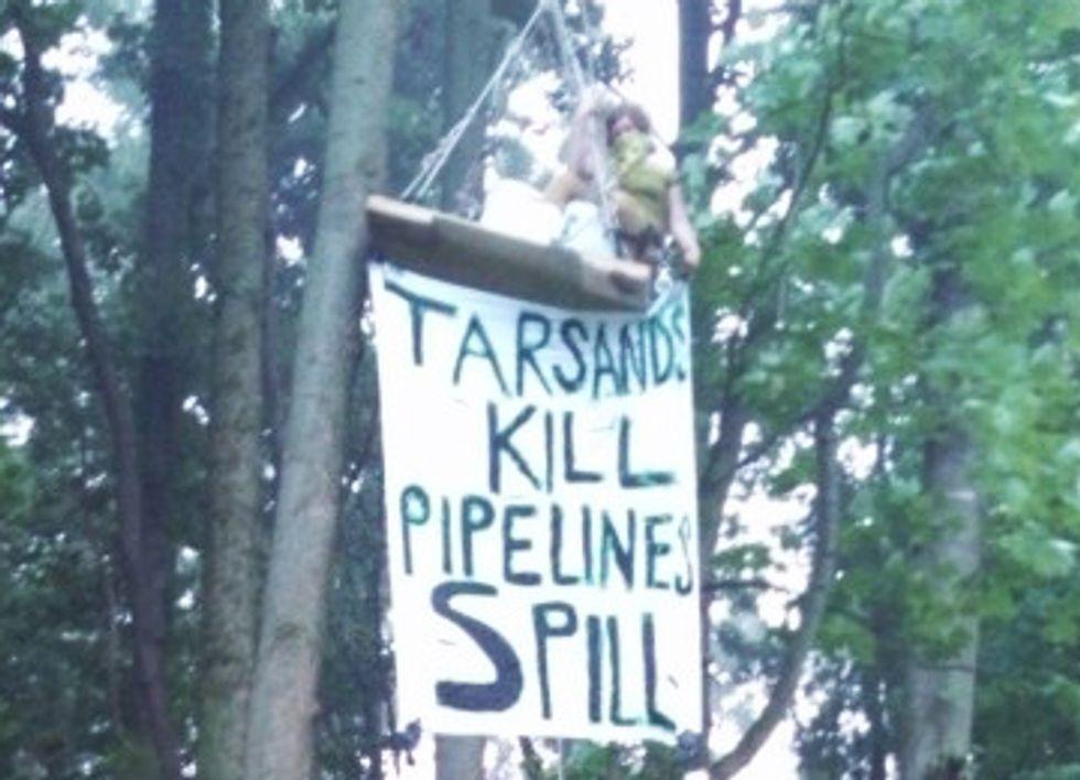 Daring Aerial Blockade Halts Tar Sands Pipeline Construction in Michigan