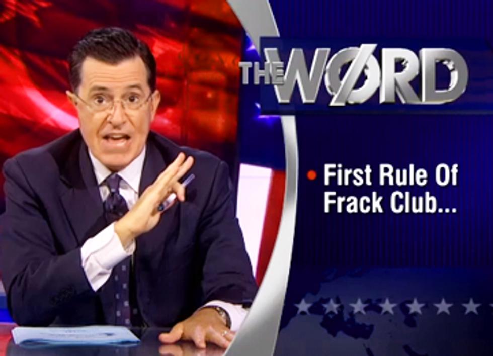 Colbert Calls Out Fracking Company for Lifetime Gag Order on Children