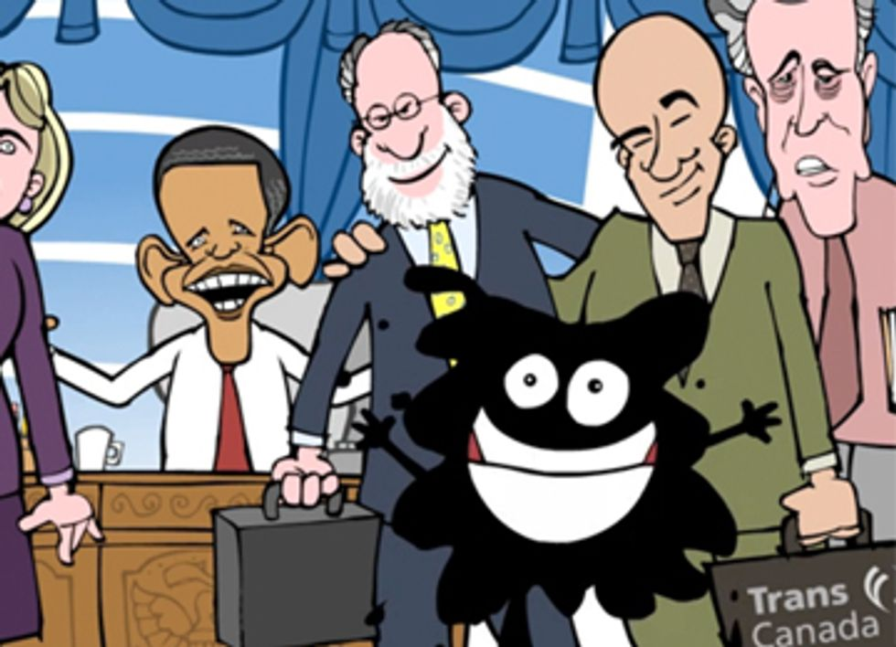 'Keystone Clones' Animation Mocks Dirty Tar Sands Cronies