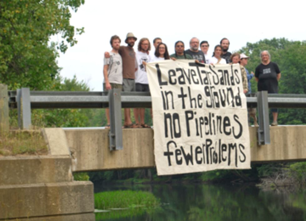 Grand River Flotilla Protests Enbridge Tar Sands Spill and Pipeline Expansion