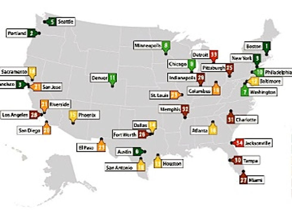 How Does Your City Rank in Efforts to Save Energy?