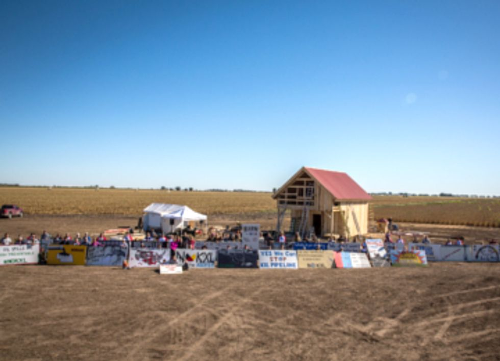 Renewable Energy Barn Built in Path of Keystone XL Pipeline
