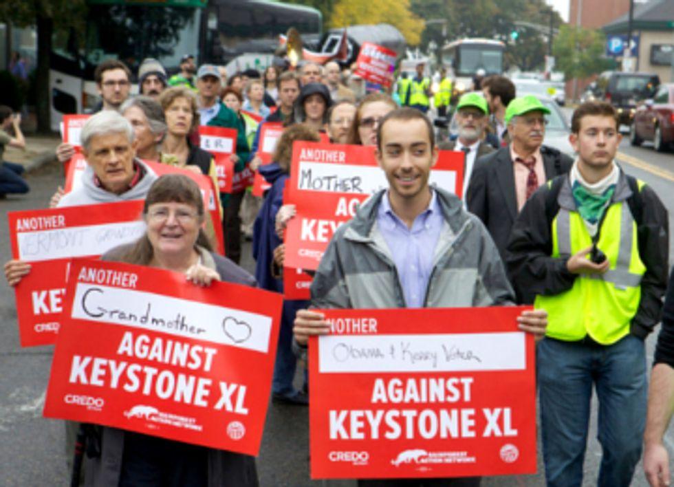 36 Risk Arrest Protesting Keystone XL at Boston Rally