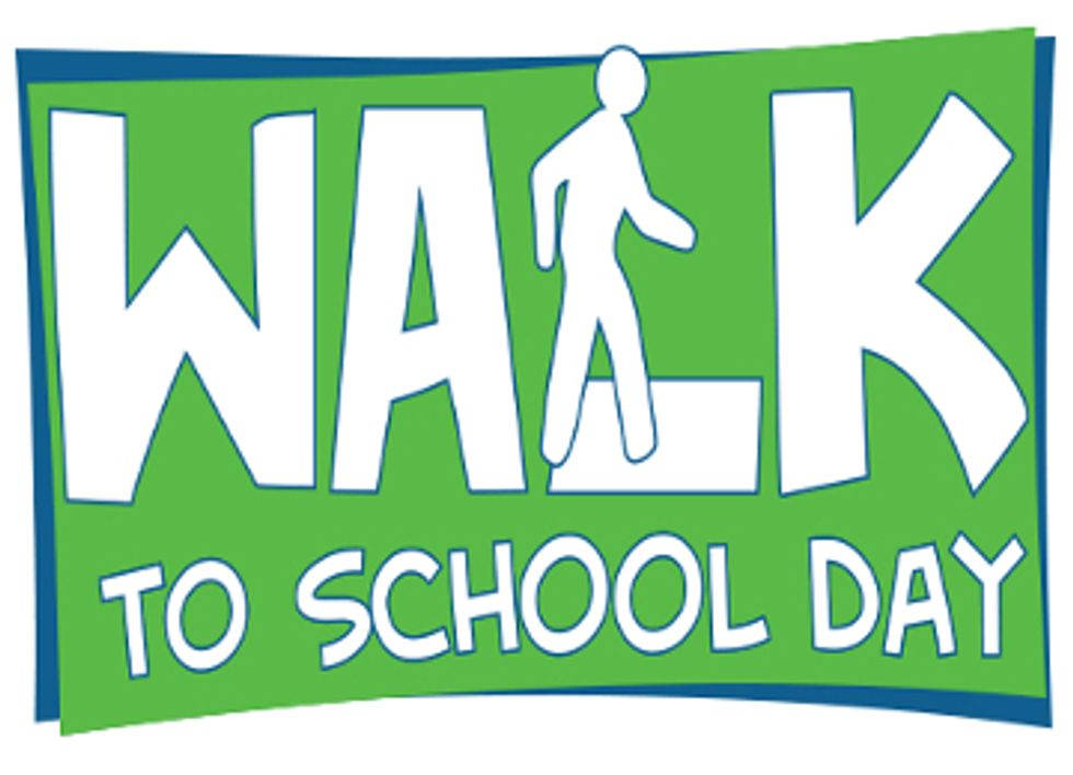 National Walk to School Day Gets Kids Off the Bus, Reduces Pollution