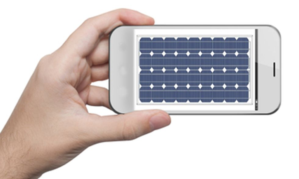 Apple Imagines You Charging Your iPhone, iPad or MacBook Directly From a Solar Panel