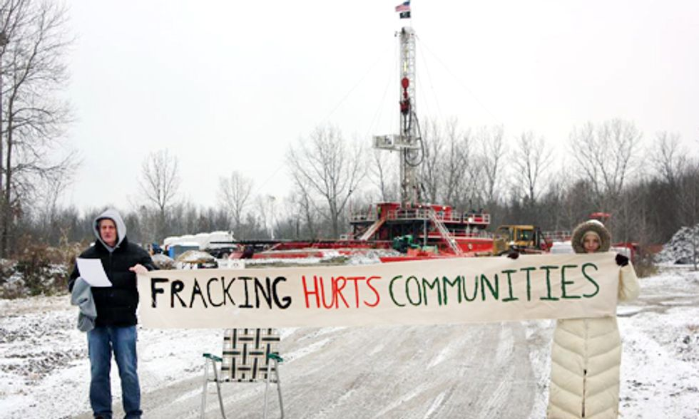 Two Arrested Protesting Fracking Wastewater Injection Well