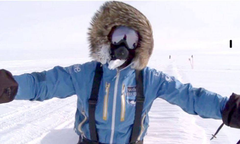 Climate Change Activist Shatters World Record for Fastest Trip to South Pole