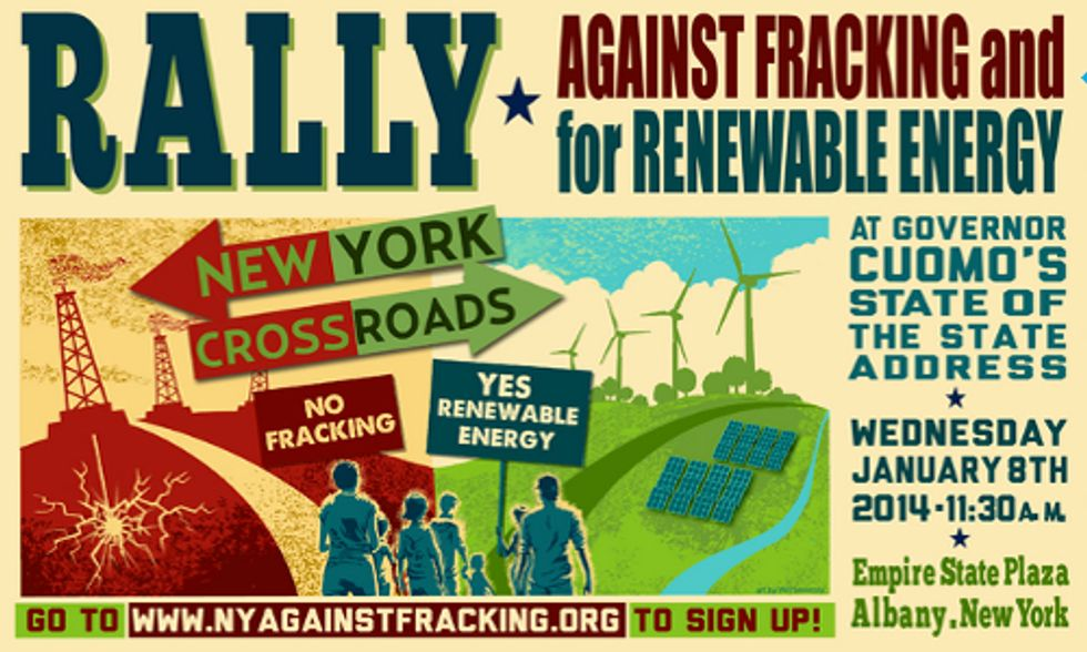 2,000+ New Yorkers Rally Against Fracking at Gov. Cuomo's State of State Address