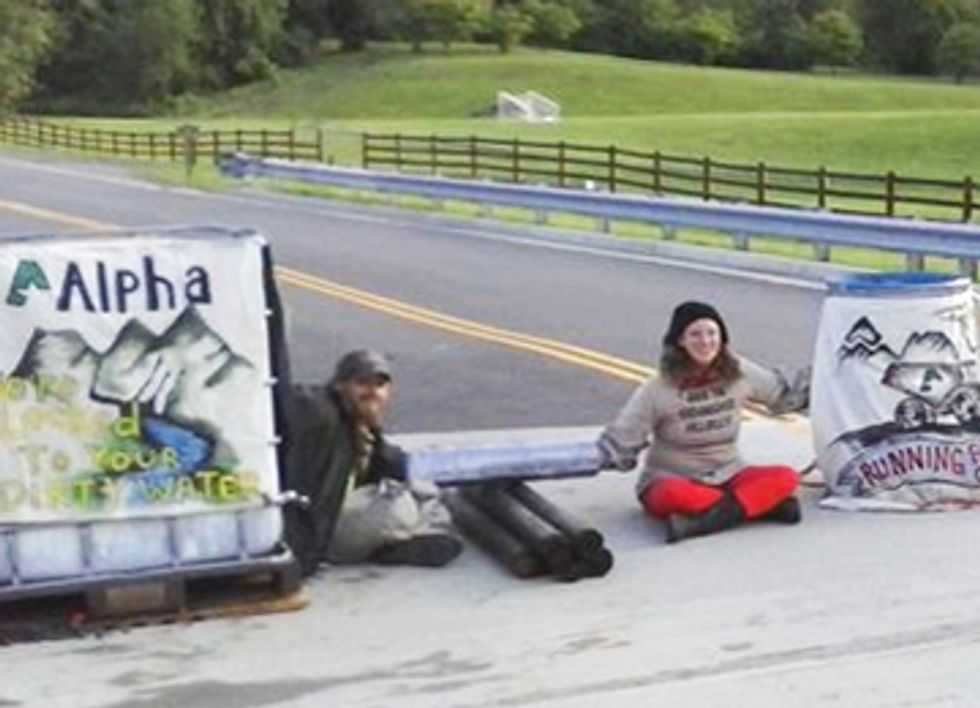 Five Arrested at Mountaintop Removal Protest