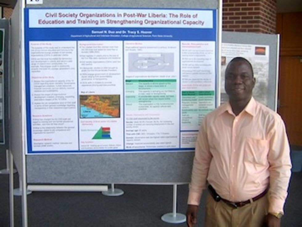 Global Environmental Leader: Samuel Duo Helps Build Liberia's Sustainable Community